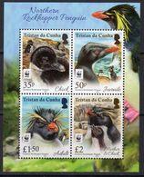 Tristan Da Cunha 2017 Rockhopper Penguins MS, MNH - Tristan Da Cunha
