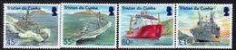 Tristan Da Cunha 2018 Visiting Royal Navy Ships Set Of 4, MNH - Tristan Da Cunha