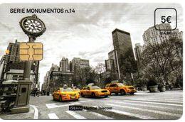ISN-224 SPAIN PHONECARD ESPAÑA ISERN SERIE MONUMENTOS Nº14 (NEW YORK - YELLOW TAXI CAR )- CARD FOR  HOSPITAL TV - Basisausgaben