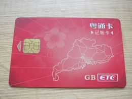Guangdong Highway ETC Toll E-sevice Chip Card - Télécartes