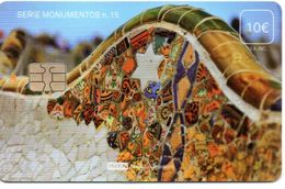 ISN-247 SPAIN PHONECARD ESPAÑA ISERN SERIE MONUMENTOS Nº15 (PARQUE GUELL - GAUDI BARCELONA)- CARD FOR  HOSPITAL TV - Emissions Basiques