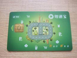 Guangdong Highway ETC Toll E-sevice Chip Card,landmark Of Beijing,Guangzhou And Hongkong - Télécartes