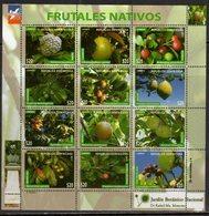 DOMINICAN REPUBLIC, 2017, MNH,FRUITS, SHEETLET - Frutta