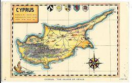 CPA - Carte De CYPRUS - Cyprus