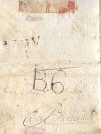 Prefilatelia Año 1818   Carta Vilanoveta A Barcelona Marcas V-46 Cataluña Antonio LLeo Canals - ...-1850 Prefilatelia
