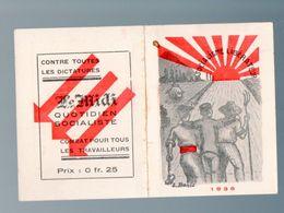 Calendrier 1936  LE MIDI Quotidien Socialiste (PPP23288) - Calendriers