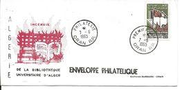 Algérie 1er Jour FDC YT 406 Bibliothèque D'Alger. Oran  07/06/65 - Algeria (1962-...)