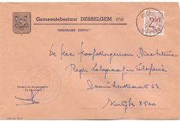 Omslag Enveloppe - Gemeentebestuur Desselgem - Stempel Cachet 1974 - Enveloppes