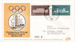 Germany 1972 Cover: Olympic Games München; Architecture Rezidenz; Propyläen; Sailing; Athletics Shot Put - Summer 1972: Munich