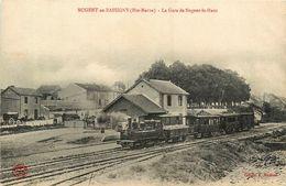 Nogent En Bassigny * La Gare De Nogent Le Haut * Train Locomotive * Ligne Chemin De Fer Haute Marne - Nogent-en-Bassigny