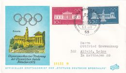 Germany 1972 Cover: Olympic Games München; Architecture Bavaria; Clyptothec; Sculpture; - Summer 1972: Munich