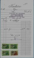 BELLEGEM –facture DELBERGHE Fabrique De Chicorée (1968)- Avec Timbres Fiscaux - 1950 - ...