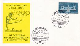 Germany 1970 Cover: Olympic Games München 1972; Architecture Bavaria; Gymnastics; Turnen; Karlsruhe Exhibition - Summer 1972: Munich