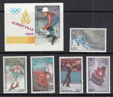 Laos - 1992 Winter Olympic Games - Albertville Set S/sheet + 5 Mnh - Invierno 1992: Albertville