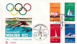 Germany 1972 Cover: Olympic Games München 1972; Judo; Sailing; Gymnastics; Swimming; - Summer 1972: Munich