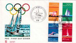 Germany 1972 Cover: Olympic Games München 1972; Judo; Sailing; Gymnastics; Swimming; Kiel Cancellation - Summer 1972: Munich