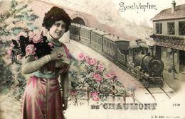 Chaumont * Carte Photo * Souvenir De La Ville * Train Locomotive Fantaisie - Chaumont