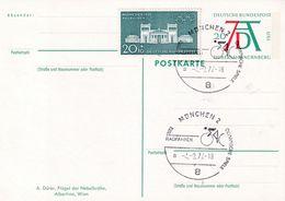 Germany 1971 Postal Stationery Card: Olympic Games München 1972; Architecture Propyläen; Cycling Radfahren; Art Dürer; - Summer 1972: Munich