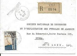 Algérie YT 367 /LR Tenes Orléansville 13/12/63 - Algeria (1962-...)