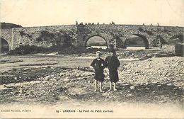 - Finistère - Ref-E553- Carhaix - Le Pont Du Petit Carhaix - Fillettes - Carte Bon Etat - - Carhaix-Plouguer