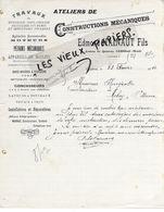 59 - Nord - CAMBRAI - Facture HAINAUT - Ateliers De Constructions Mécaniques - 1914 - REF  159C - 1900 – 1949