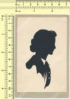1930s Silhouette Woman, Lady - Scissor-type Female Portrait De Femme - Old Original Art Postcard - Silhouettes