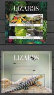 GRENADA CARRIACOU, 2020, MNH, REPTILES, LIZARDS, IGUANAS, GECKOS,  SHEETLET+S/SHEET - Reptiles & Amphibians