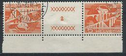 TT-/-128-. Tête-bêche  Avec Pont, N° 482b,  Obl., FEUILLE N° 2,  Cote 2.00 €   , Je Liquide - Tete Beche