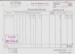 HALLE – Facture GEB. VAN LIER Frères – Produits PACHA (1968) - 1950 - ...