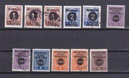 Kroatien - 2. Weltkrieg Besetzung - 1941 - Michel Nr. 41/46 - Postfrisch/Ungebr. M. Falz/Gestempelt - Besetzungen 1938-45