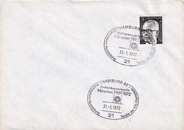 Germany 1972 Cover: Olympic Games München 1972; Philatelic Exhibition Hamburg; Olympic Logo; - Summer 1972: Munich