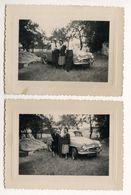 PHOTO ANCIENNE Famille Photographie Automobile Voiture Auto Véhicule 1954 Modèle à Identifier Citroën Renault Peugeot ? - Automobili
