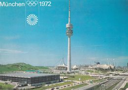 Germany 1972 Card: Olympic Games München 1972; Philatelic Exhibition Münster; Olympic Park With Olympic Tower - Summer 1972: Munich