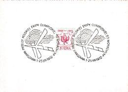 Poland 1972 Card: Olympic Games München; Poland Olympic Team Flight To Munich; Warszawa 25.8.72 Flight - Summer 1972: Munich