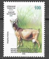 NORTH MACEDONIA , 2020, MNH, FAUNA, GOATS, 1v - Postzegels
