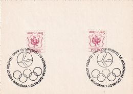 Poland 1972 Card: Olympic Games München; Poland Olympic Team Flight To Munich; Warszawa 22.8.72 Flight - Summer 1972: Munich