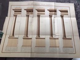 ARCHITECTURE / LES CINQ ORDRES SELON VIGNOLE / PLAN LOUIS ALLARD - Architecture