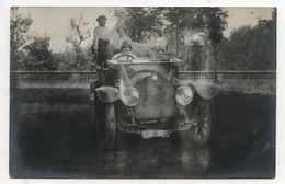PHOTO ANCIENNE CARTE BERLIET Famille Photographie Automobile Voiture Auto Véhicule 1930 Modèle Ancien - Automobili