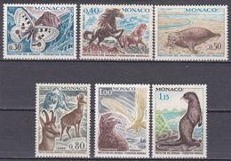 Tr_ Monaco 1970 - Mi.Nr. 966 - 971 - Postfrisch MNH - Tiere Animals - Ohne Zuordnung