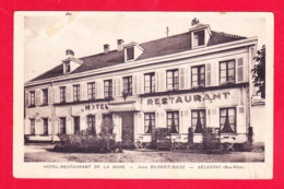 F-67-Selestat-08Ph112  Hôtel Restaurant De La Gare, Jean Rebert Riedi, La Façade - Selestat