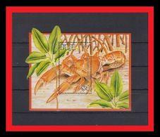 090. FIJI 1997 UNUSUAL DIE CUT STAMP M/S LOBSTER. MNH - Fiji (1970-...)