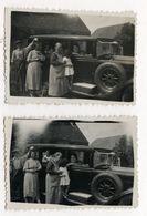 PHOTO ANCIENNE Famille Photographie Automobile Voiture Auto Véhicule 1930 Modèle à Identifier Citroën Renault Peugeot ? - Automobili