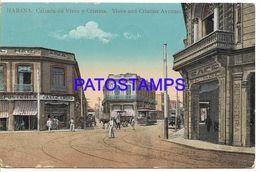 136941 CUBA HABANA AVENUE VIVES AND CRISTINA & TRAMWAY CIRCULATED TO ITALY POSTAL POSTCARD - Cartes Postales