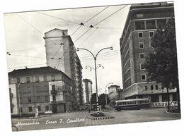 CLA380 - ALESSANDRIA CORSO F CAVALLOTTI AUTOBUS 1950 CIRCA - Alessandria
