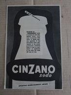 - ADVERTISING PUBBLICITA' CINZANO SODA - 1953 -  OTTIMO - Unclassified