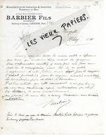 59 - Nord - LANDRECIES - Facture BARBIER - Manufacture De Galoches, Commerce De Bois - 1919 - REF 159C - 1900 – 1949