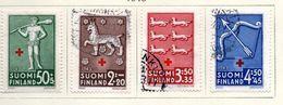1942 - FINLANDIA - Mi. Nr. 271/274 - LH/USED -  (UP.70.47) - Finland