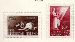 1943 - FINLANDIA - Mi. Nr. 275/276 - LH -  (UP.70.47) - Finland