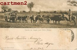 PORTO-ALEGRE CARRETA EN VIAGEM PARA PORTO ALEGRE BRESIL BRAZIL + CACHET RAUL SANTOS ARAUJO 220 ANDRADAS 1900 - Porto Alegre