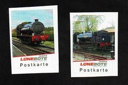 BRD - Lünebote - Eisenbahn Train  - 2 Werte Mit Der Dampflok Nr. 25 Northiam - Treinen